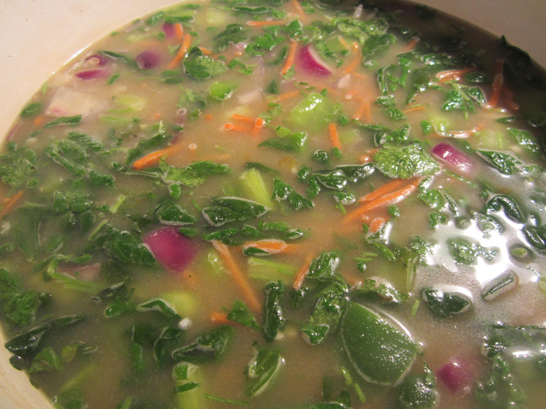 Sopa de legumes e especiarias