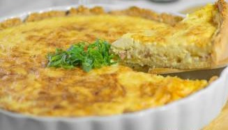 Quiche de frango lowcarb