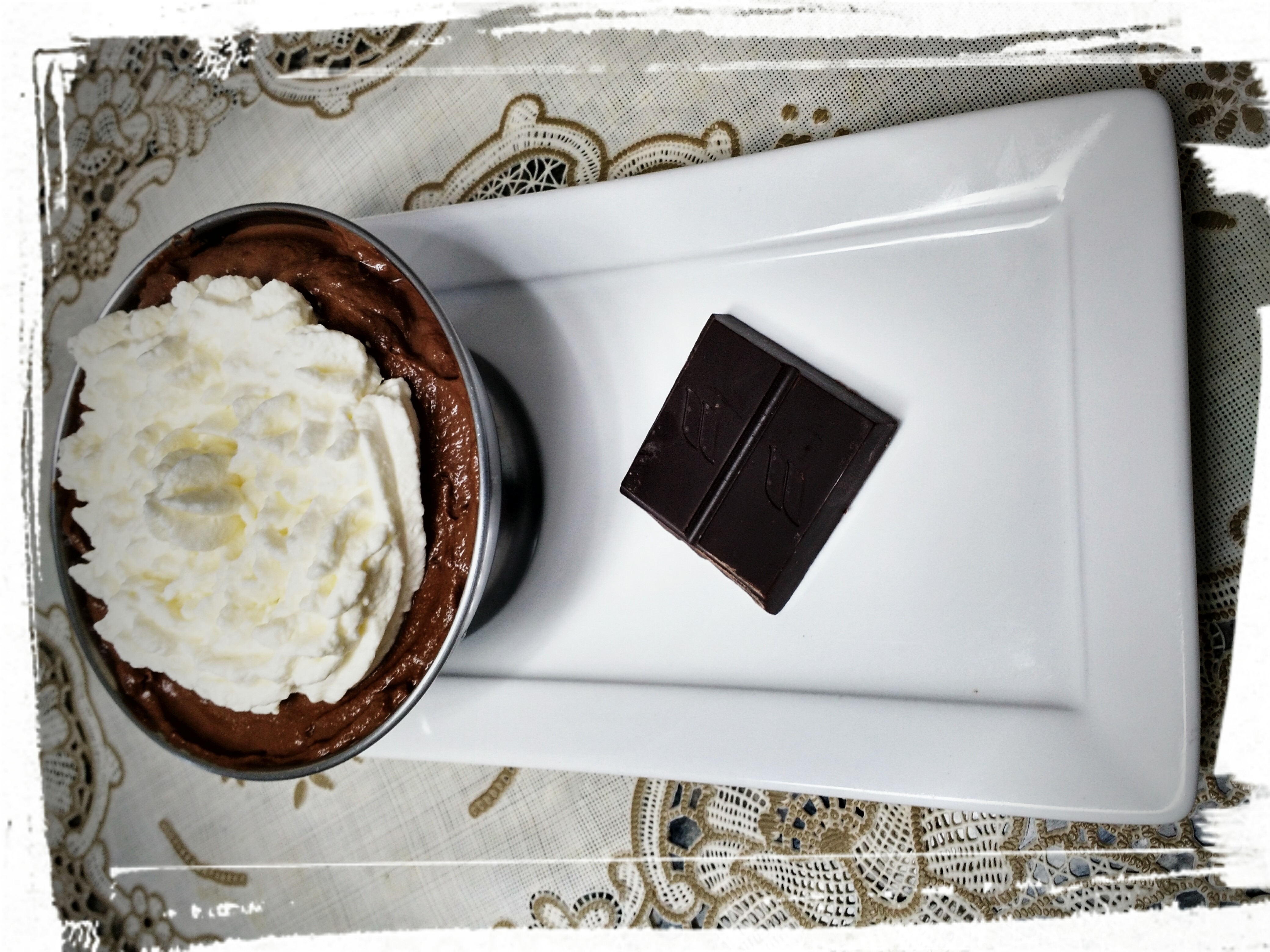 Mousse de chocolate lowcarb (85% cacau)